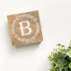Other - Rustic Farmhouse Wooden Monogram B Sign